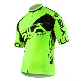MAILLOT SILA FLUO STYLE 3 Plus – VERT – Manches courtes