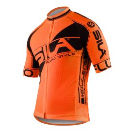MAILLOT SILA FLUO STYLE 3 Plus – ORANGE – Manches courtes
