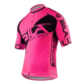 MAILLOT SILA FLUO STYLE 3 Plus – ROSE – Manches courtes