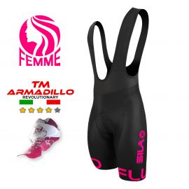 CUISSARD CYCLISME FEMME SILA FLUO STYLE 3 - ROSE