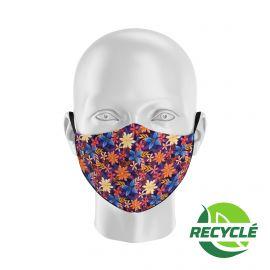 Masque tissu SILA BLOSSOM MULTICOLORS - Forme Ergo - Filtration 1 - UNS1