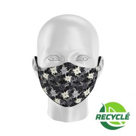 Fabric Mask SILA BLOSSOM BLACK - Ergo Shape - Filtration 1 - UNS1