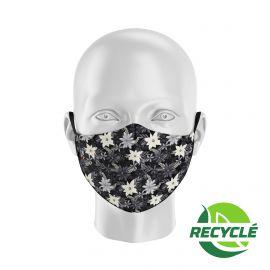 Masque tissu SILA BLOSSOM NOIR - Forme Ergo - Filtration 1 - UNS1