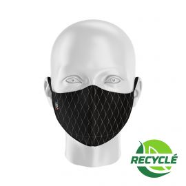 Masque tissu SILA SCALE NOIR - Forme Ergo - Filtration 1 - UNS1