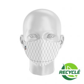 Masque tissu SILA SCALE BLANC - Forme Ergo - Filtration 1 - UNS1