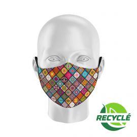 Masque tissu SILA BOHO MULTICOLORS - Forme Ergo - Filtration 1 - UNS1