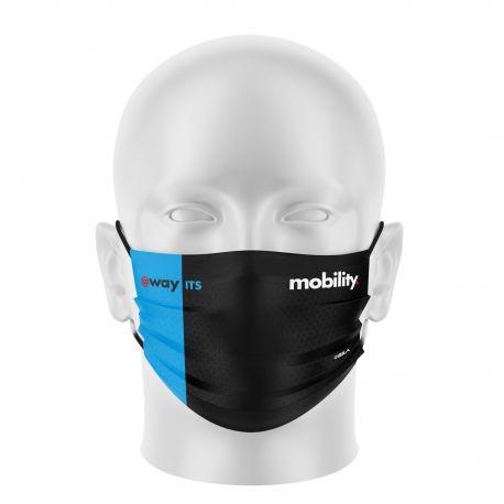 Masque tissu personnalisable - CEGELEC MOBILITY - UNS1 - Forme Plat