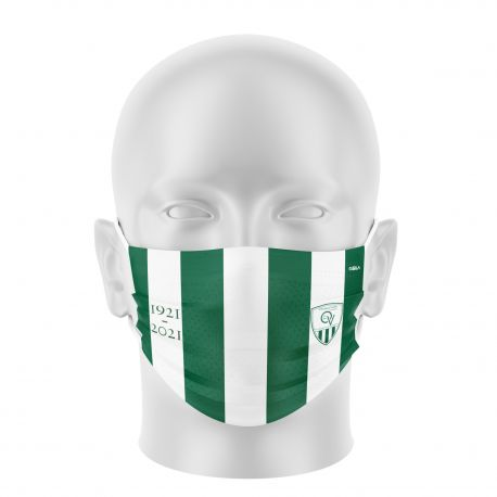 Masque tissu personnalisable - QUINCY VOISIN FOOTBALL - UNS1 - Forme Plat