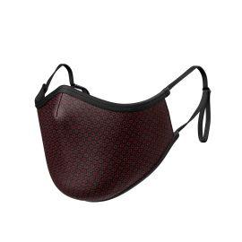 Fabric Mask SILA CIRCLE GRENAT ADJUSTABLE - Ergo Shape - Filtration 1 - UNS1
