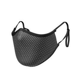 Fabric Mask SILA CIRCLE BLACK ADJUSTABLE - Ergo Shape - Filtration 1 - UNS1