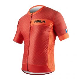 MAILLOT SILA CLASSY STYLE - ROUGE – Manches courtes