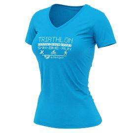 T-SHIRT SILA TRIATHLON SUPPORT BLUE NAVY - WOMEN