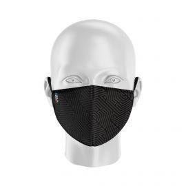 Masque tissu SILA HEXA NOIR - Forme Coque - Filtration 1 - UNS1