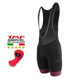 CUISSARD CYCLISME SILA GRAVEL STYLE – GRENAT