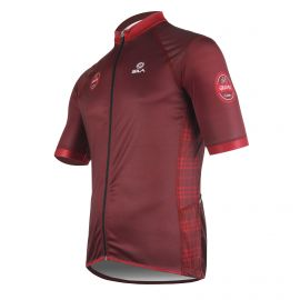 MAILLOT SILA GRAVEL STYLE - GRENAT - Manches courtes