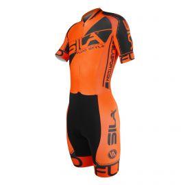 SKATING SUIT SILA FLUO STYLE 3 PLUS ORANGE - Short sleeves