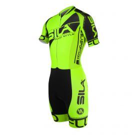 SKATING SUIT SILA FLUO STYLE 3 PLUS GREEN - Short sleeves