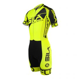 SKATING SUIT SILA FLUO STYLE 3 PLUS YELLOW - Short sleeves