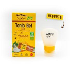 BOX 8 MELTONIC ENERGY GEL - Honey, Fleur de sel &royal jelly + 1 REFILL GEL FLASK 37ml