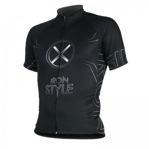 MAILLOT IRON STYLE BLANC - Manches Courtes