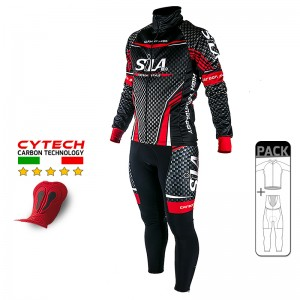 PACK HIVER Cyclisme - CARBON STYLE RED