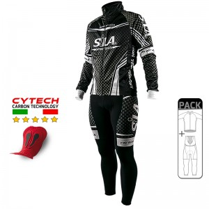 PACK HIVER Cyclisme - CARBON STYLE WHITE