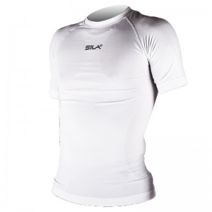 Maillot Underwear SILA OPTIMAL Blanc Manches courtes