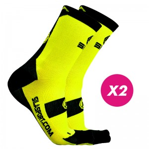 PACK PROMO SOCKS YELLOW / NOIR