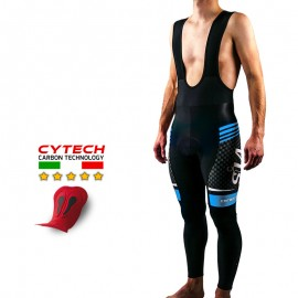CYCLING BIB TIGHT CARBON STYLE BLUE