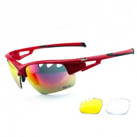 SUNGLASSES SILA FALKEN - RED - REVO GREEN