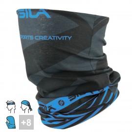 BANDANA TOUR DE COU multifonction SILA - SS Créativity Noir / Bleu