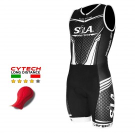 PRE-ORDER - SKINSUIT CARBON STYLE RED - Short Sleeves