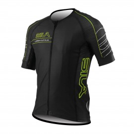MAILLOT SILA LINEA STYLE VERT - Manches courtes