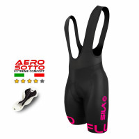 CUISSARD CYCLISME FLUO STYLE 3 ROSE