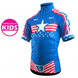 MAILLOT KIDS AMERICAN WARRIOR - Manches courtes