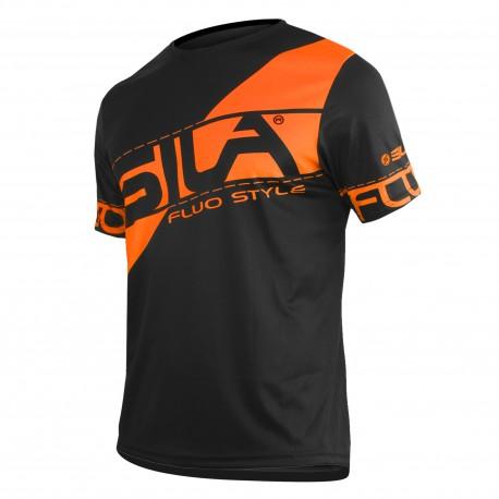 nouveaux styles c3c65 e217e RUNNING JERSEY SILA FLUO STYLE 3 ORANGE- Short sleeves