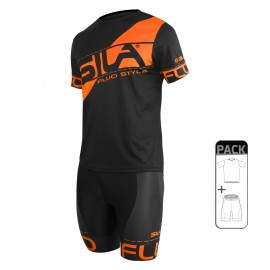 PACK ÉTÉ Running Homme - SILA FLUO STYLE ORANGE