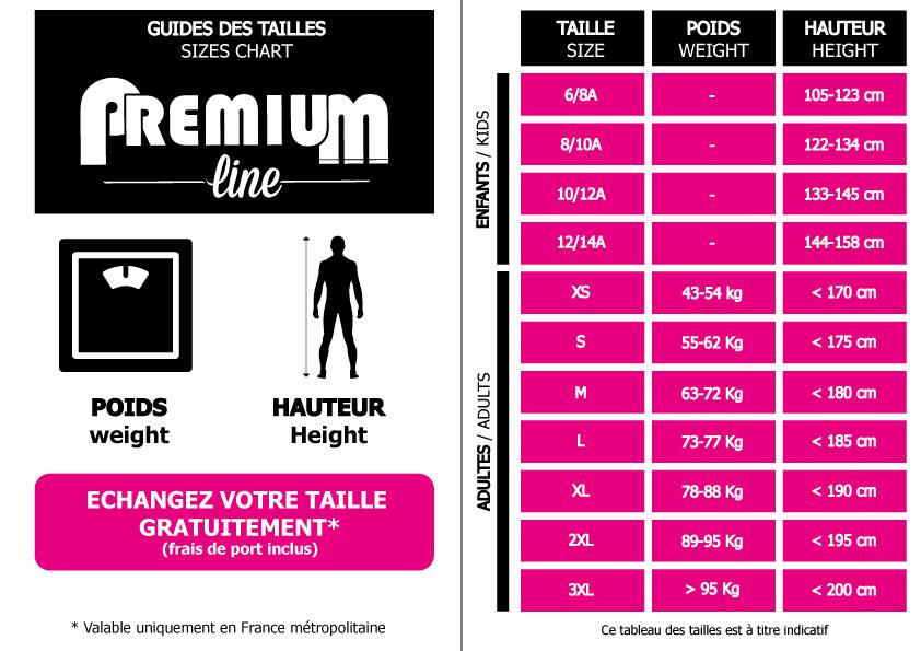 Guide des tailles premium